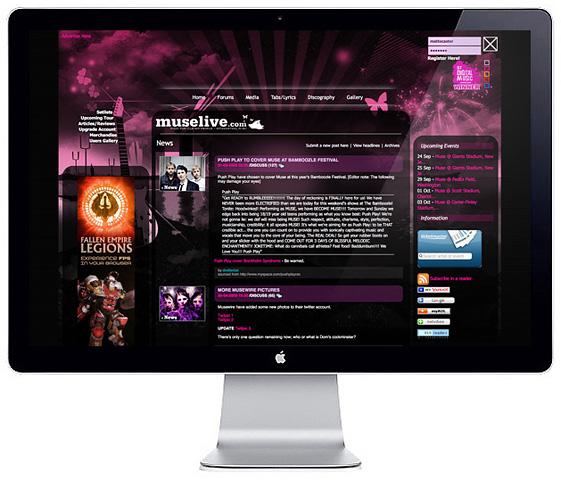 Web Design > Muselive V2