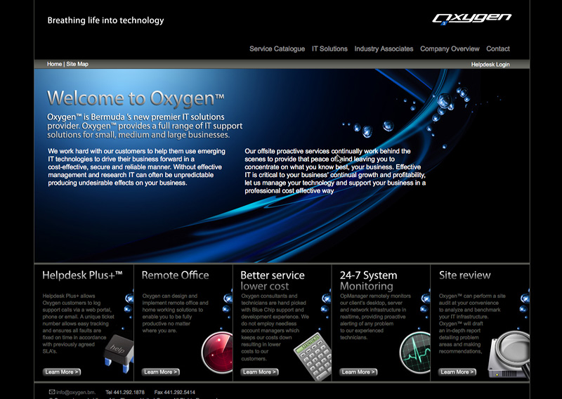 Web Design > Oxygen.bm