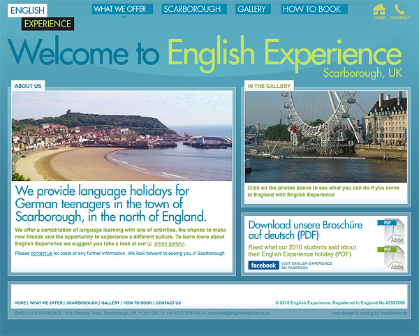 Web Design > English Experience