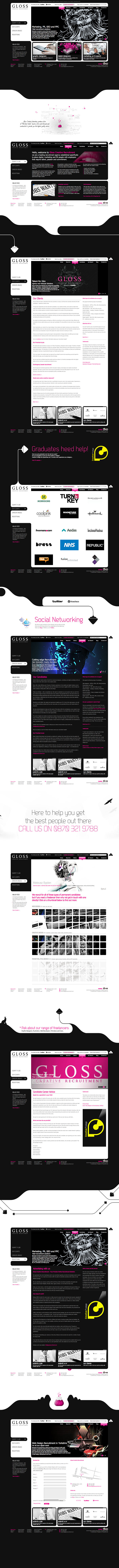 Web Design > Gloss Creative Recruitment