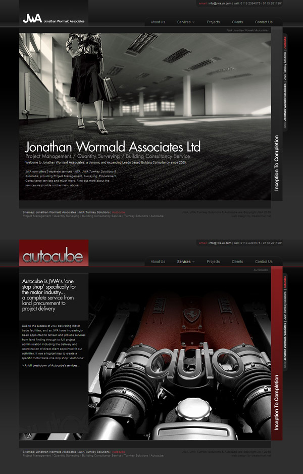 Web Design > Jonathan Wormald Associates