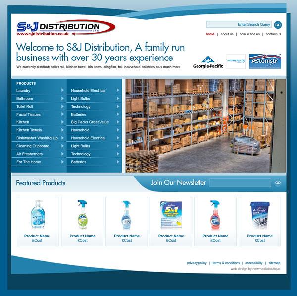 Web Design > S&J Distribution