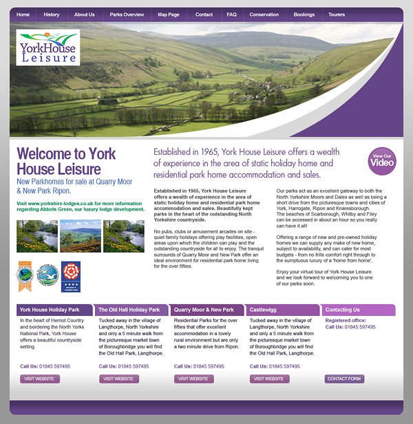 Web Design > York House Leisure