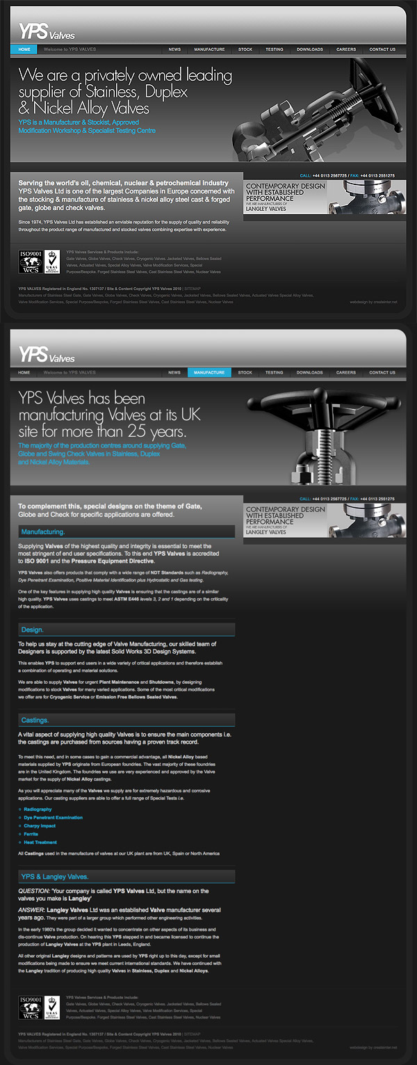 Web Design > YPS Valves